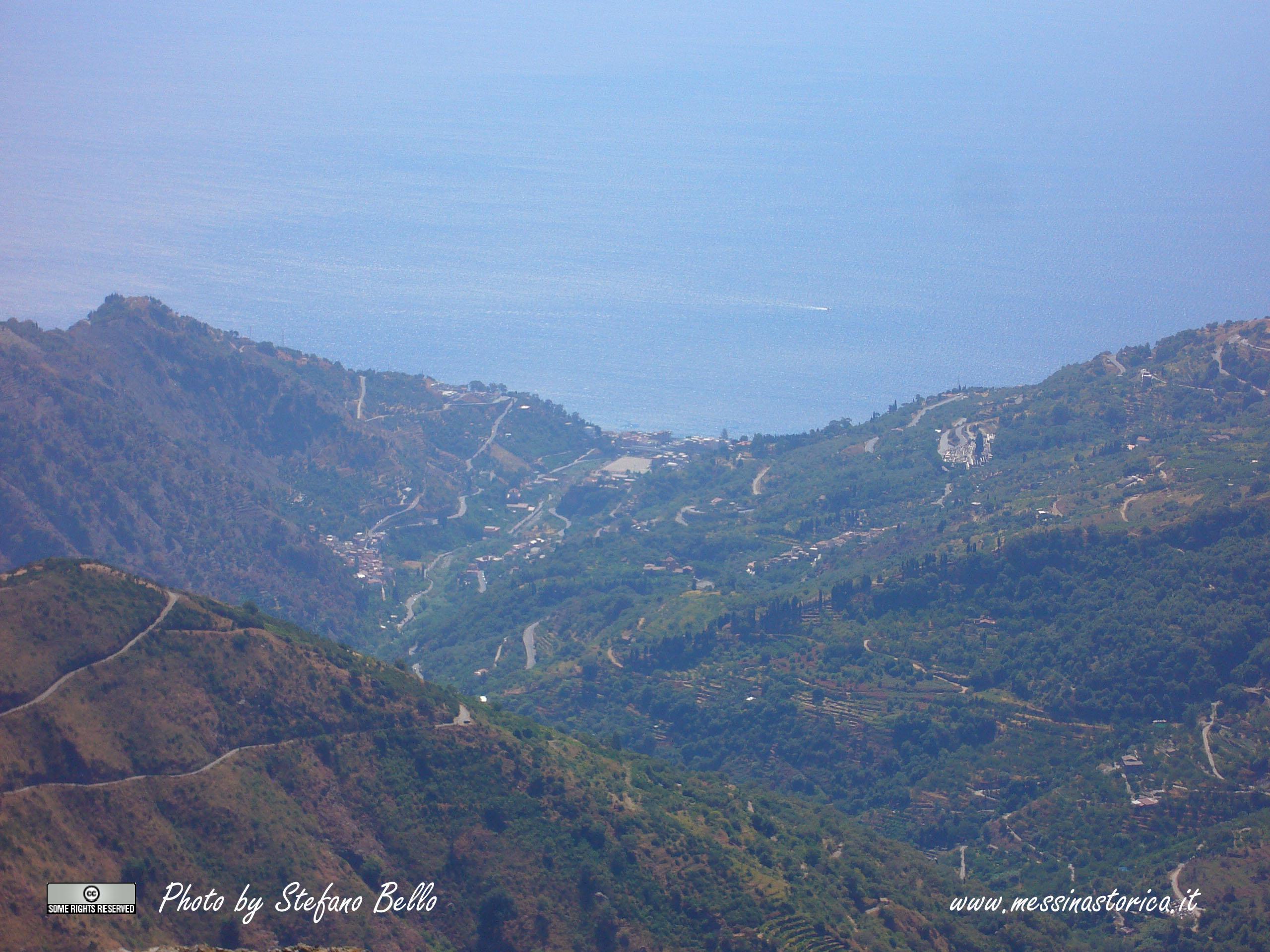 la vallata di Itàla vista dal Monte